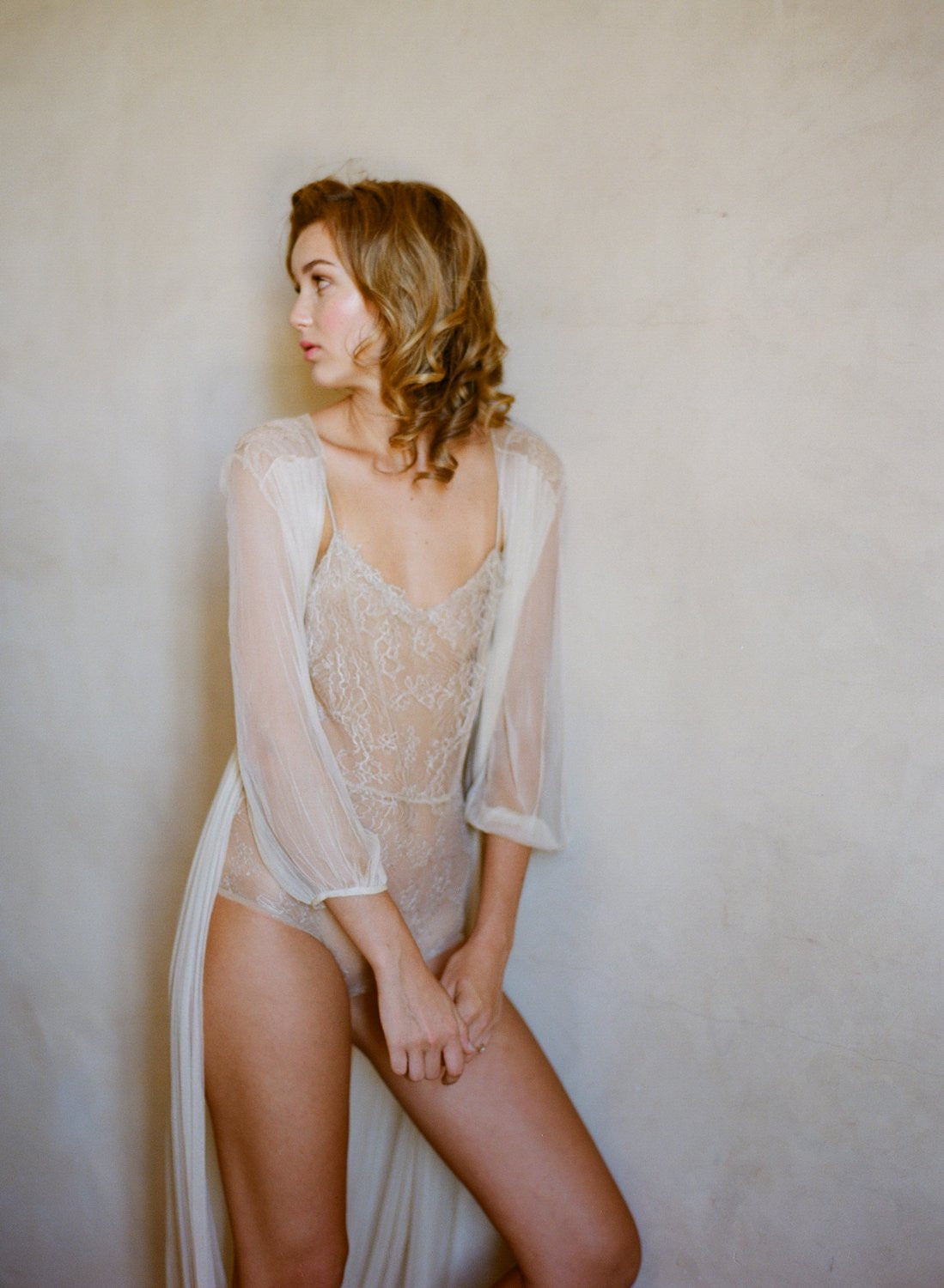 Magnolia French Chantilly Lace and tulle Bodysuit In Nude