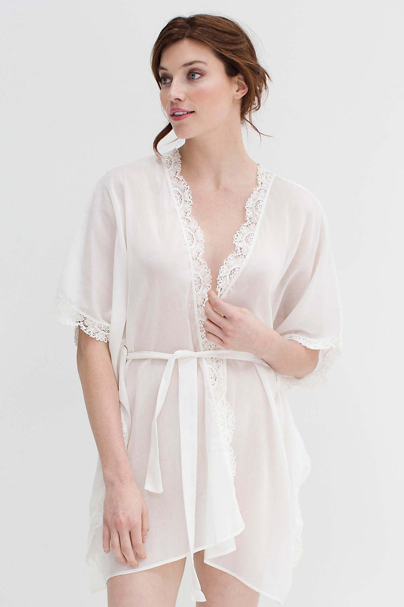 Mariel Resort Caftan kimono beach cover up in ivory