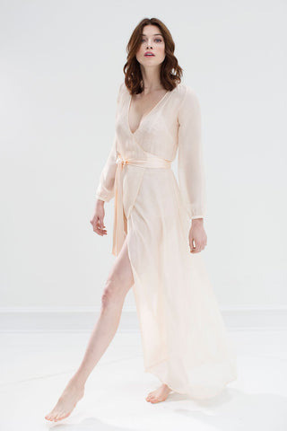 Swan Queen lace robe - bridal long dressing gown in black ...