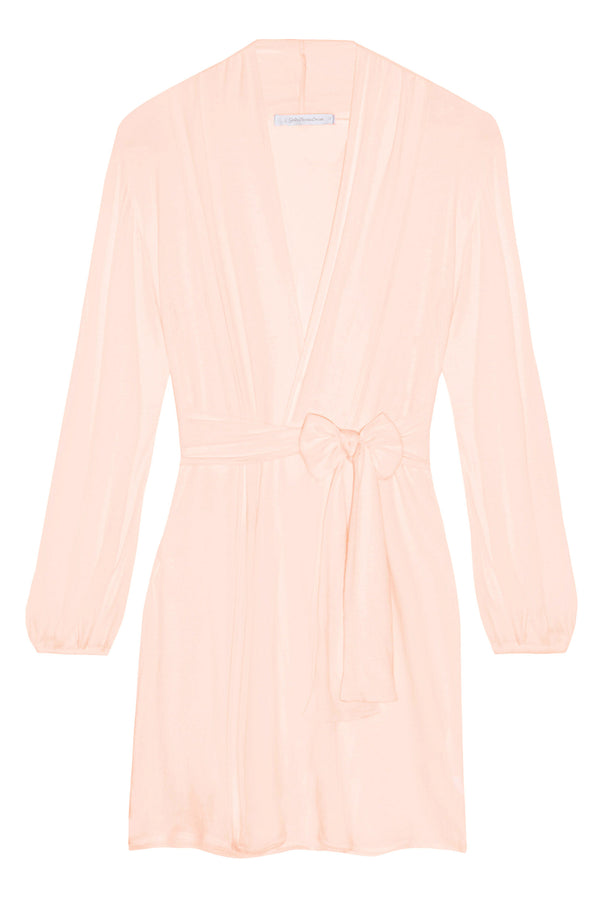 Lounge Pima Cotton Robe in blush pink