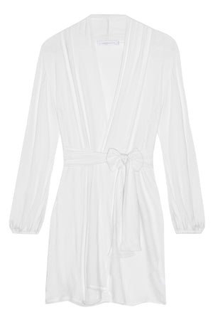 Lounge Pima Cotton Robe in Ivory