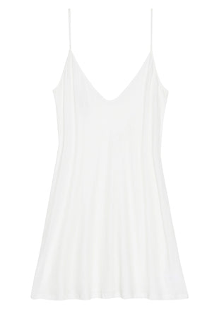 Lounge Pima Cotton Slip in Ivory
