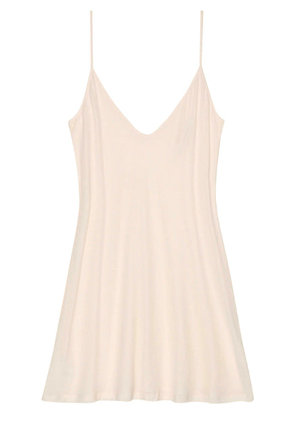Lounge Pima Cotton Slip In Nude - Style A12  Girlandaseriousdreamcom-8795