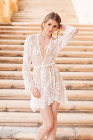 Rosa French lace top in off-white