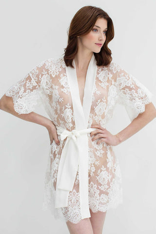 Dream Day Silk Romper Playsuit in Ivory