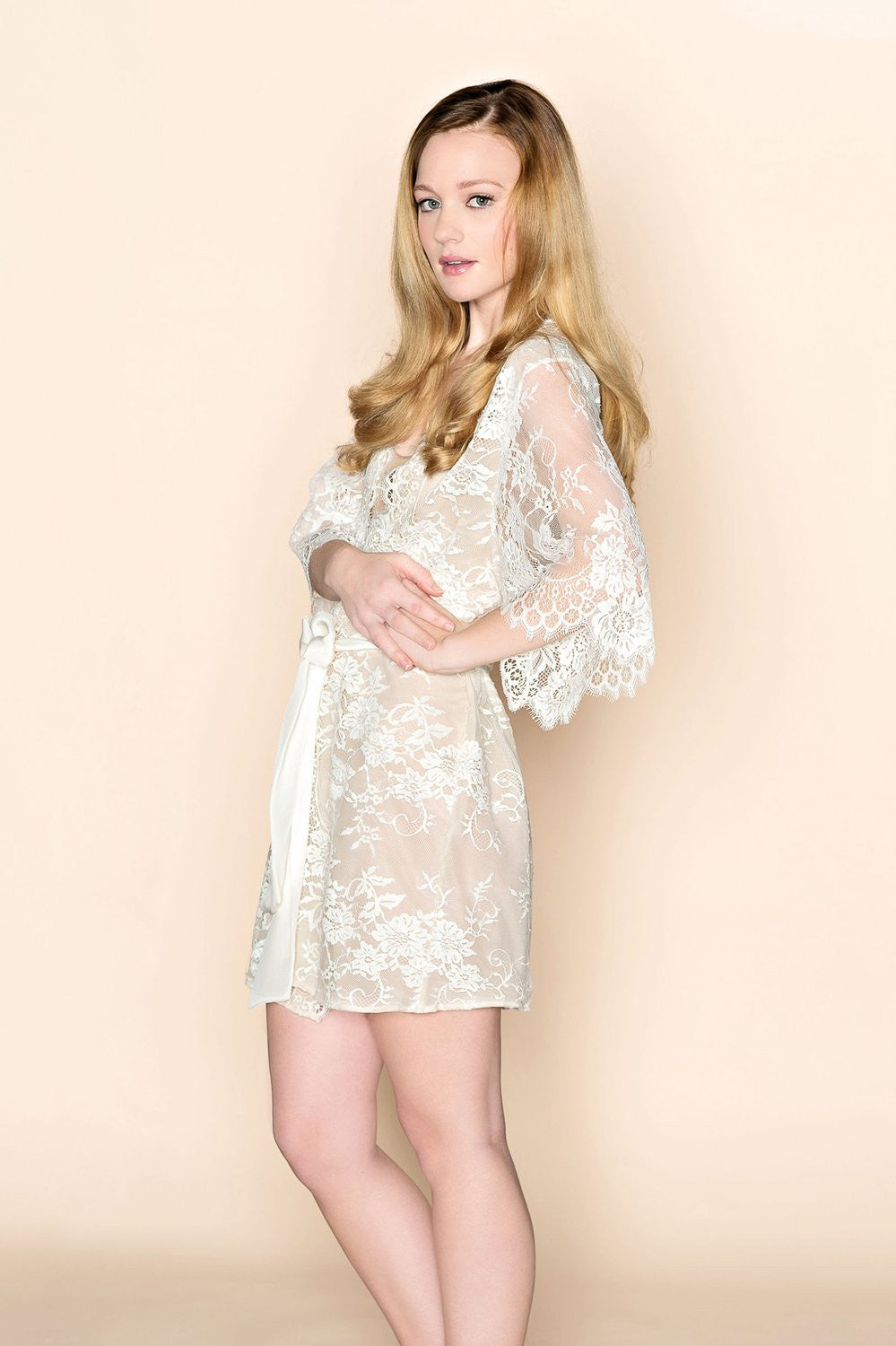 Lace and Silk Dress