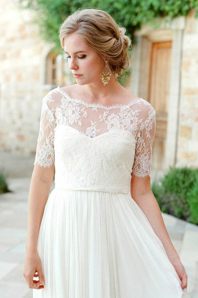 Wedding Dress Cover Up.Tali French Lace Cover Up V Back Topper In Ivory