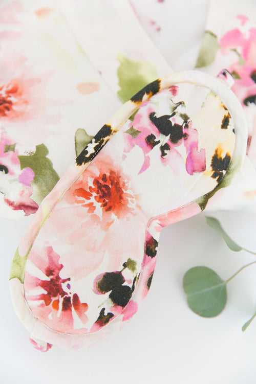 Watercolor Dreams Floral print Sleep Mask