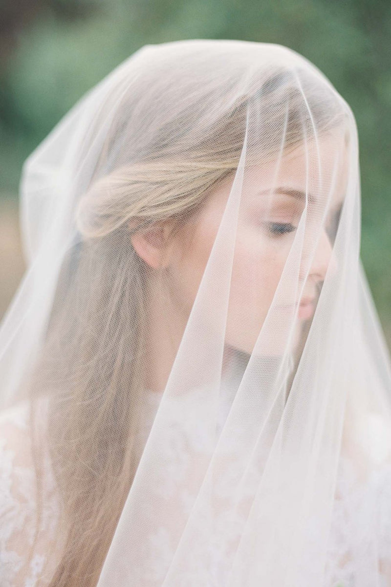 Ethereal lux blusher Cathedral veil