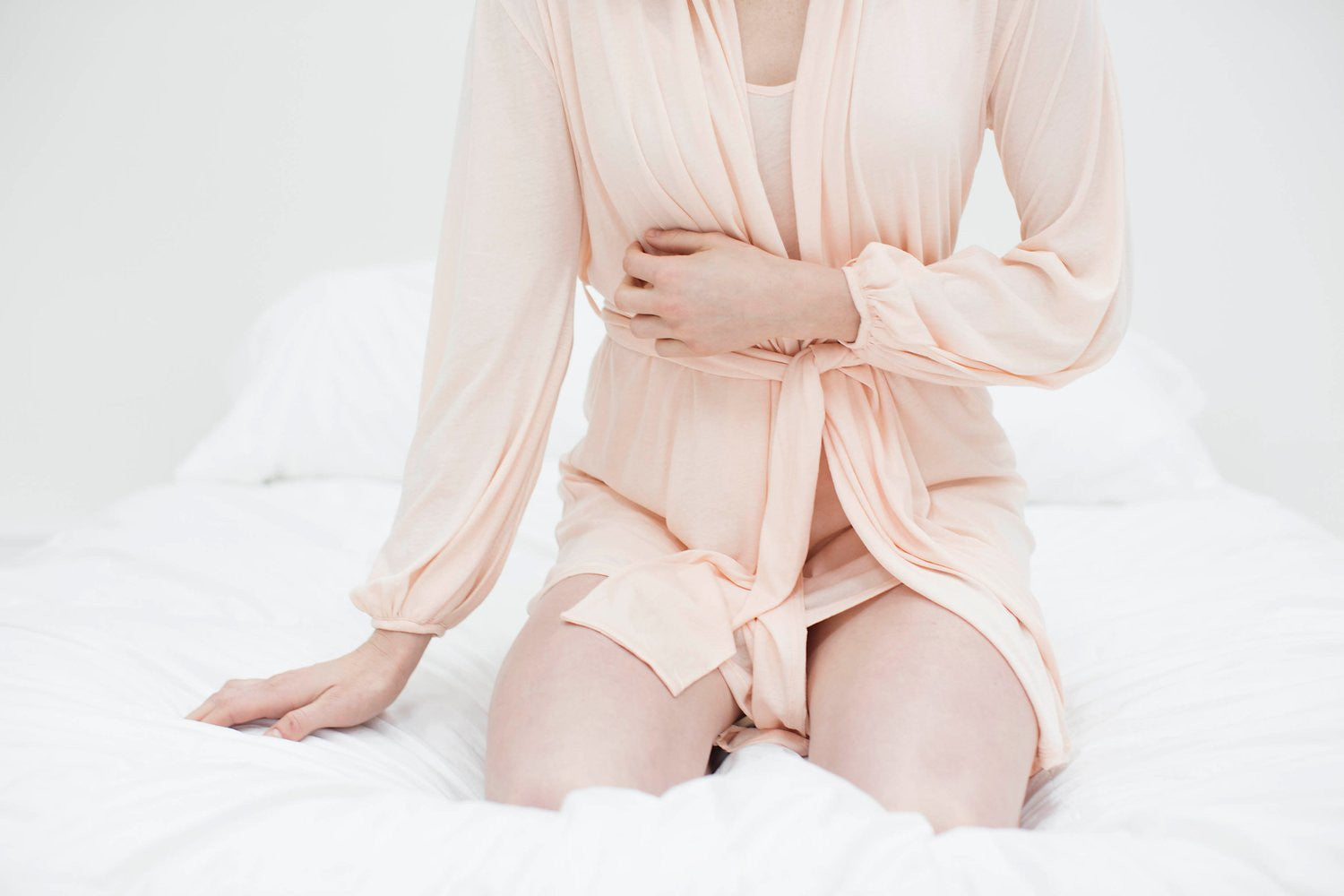 Lounge Pima Cotton Robe in blush pink, style RP2016