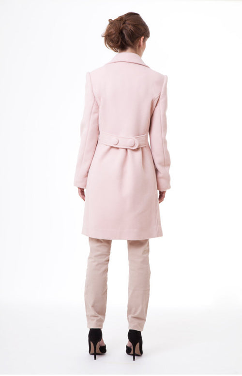 Luxe Rose Black Swan Cashmere Wool Limited Edition Pink Winter Coat