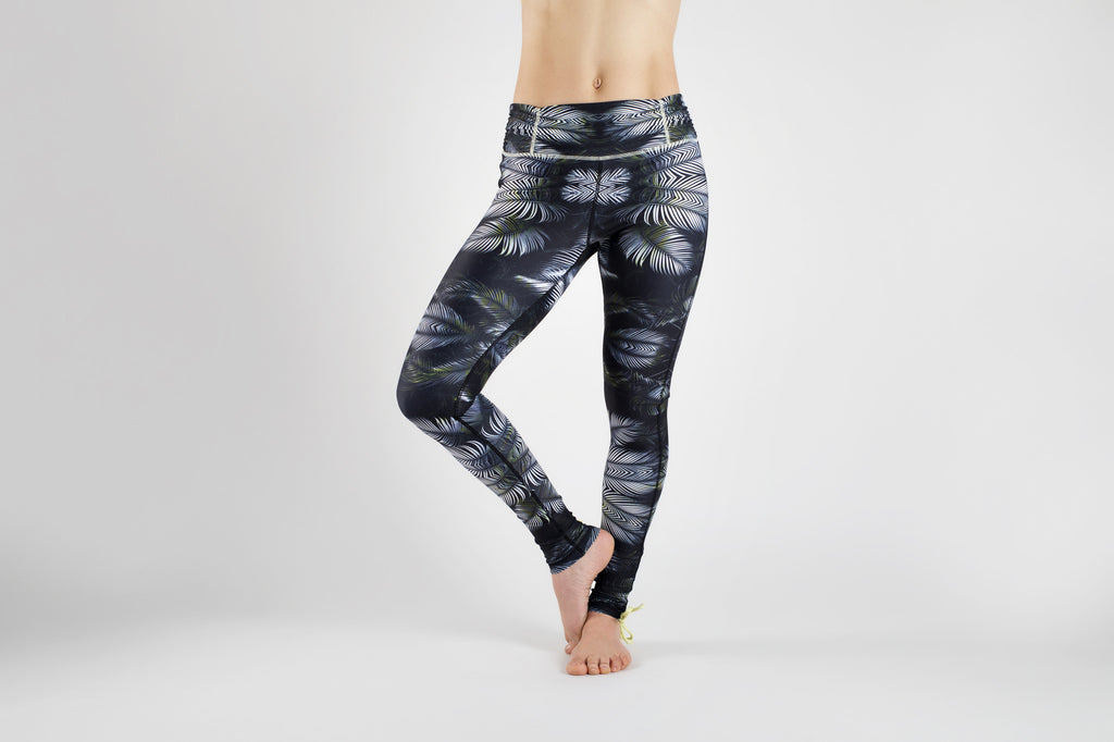 Front view of Tribal Forest Yoga Leggings from Kaa Yoga