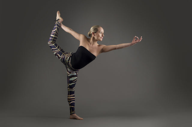 Tiger Warp Yoga Leggings from Kaa Yoga