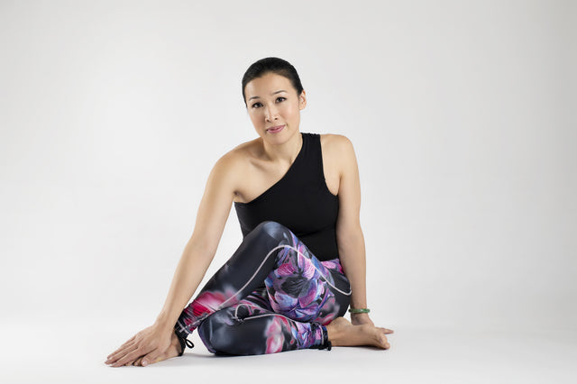 Winter Flowers Yoga Leggings from Kaa Yoga