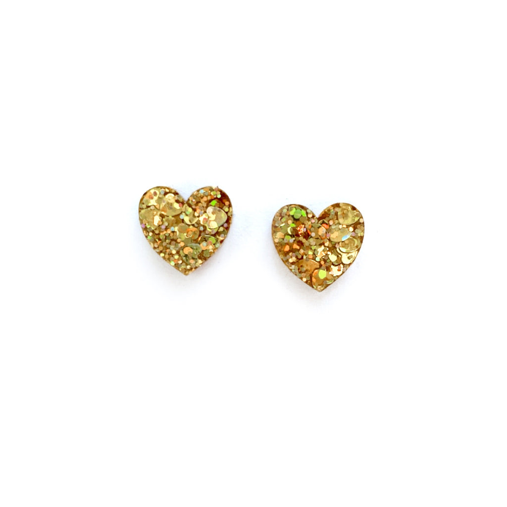 You're Golden Glitter - Shaped Studs