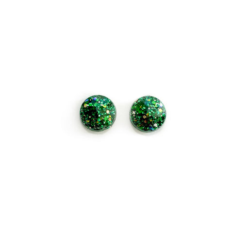Holly Glitter - 12mm Dome Studs