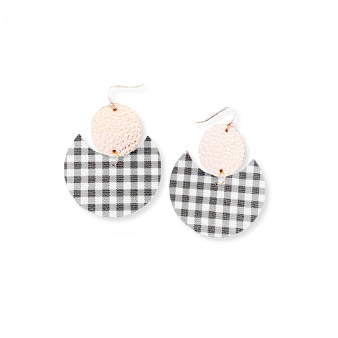 Gingham & Rose Gold - Crescent Geometrics