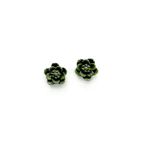 Olive Fall Blooms 13mm - Shaped Studs