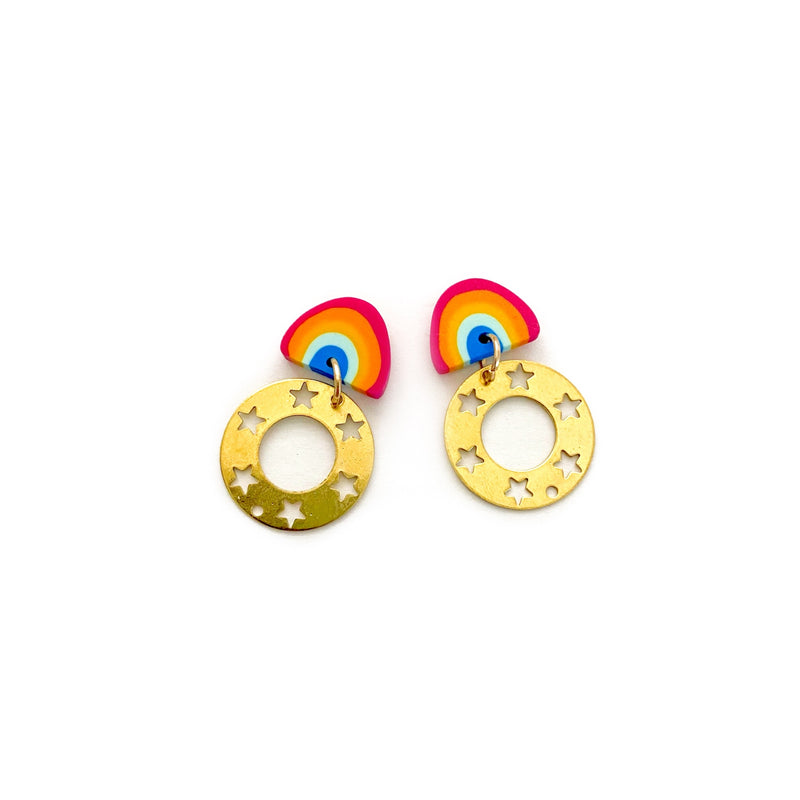 Stars & Rainbows - Stud Dangles