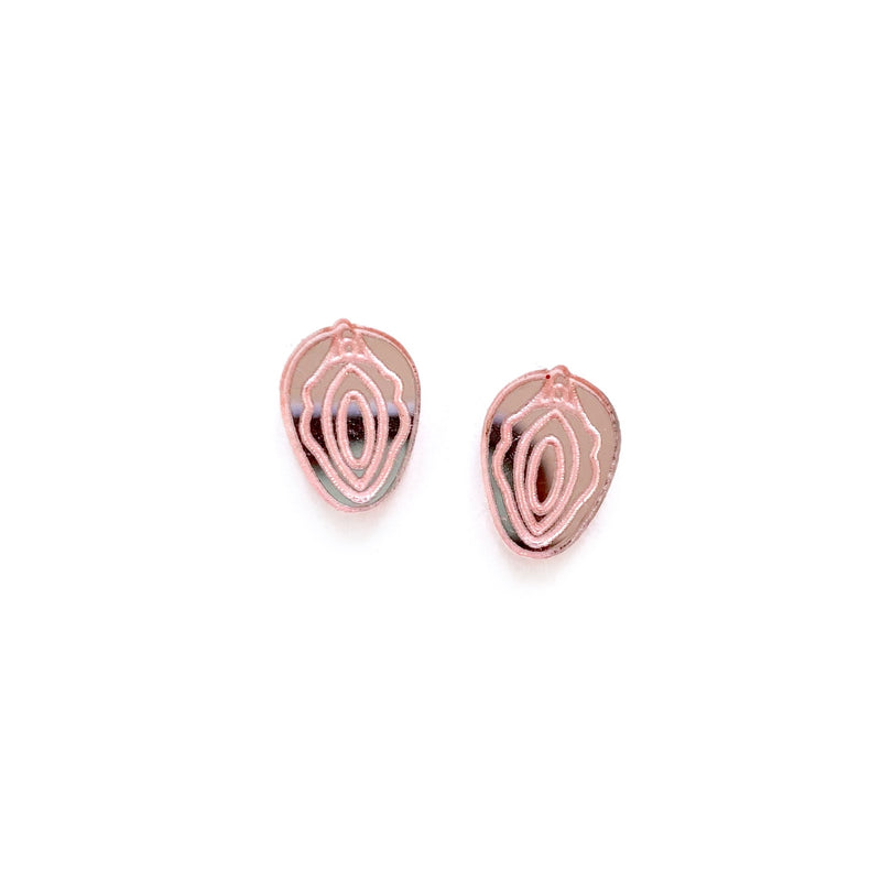VAG - Blush Mirrored Shaped Studs