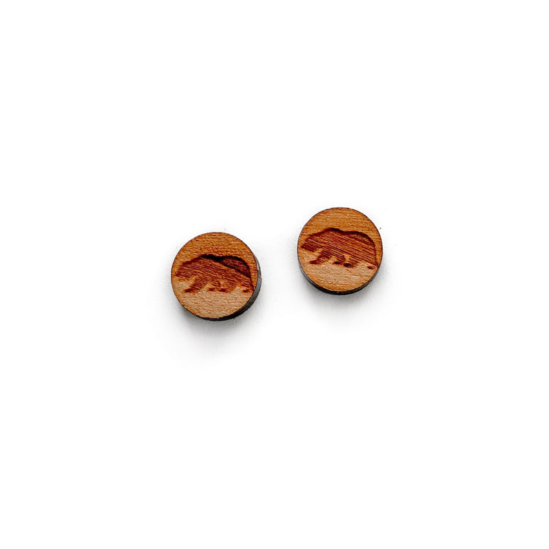 Bears - 13mm Stamped Wood Studs