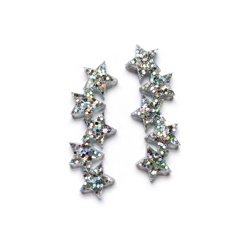 Diamonds Glitter Star Fall - Acrylic Studs