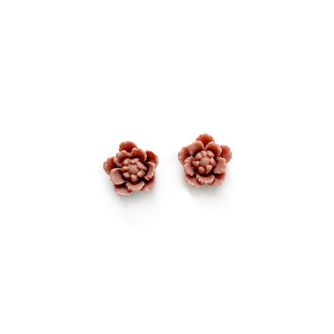 Mauve Fall Blooms 13mm - Shaped Studs