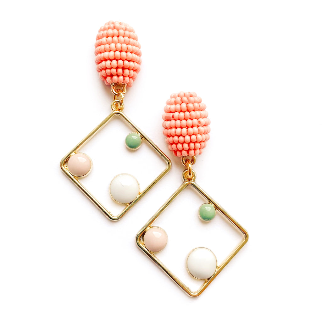 Dotty - Beaded Stud Dangles