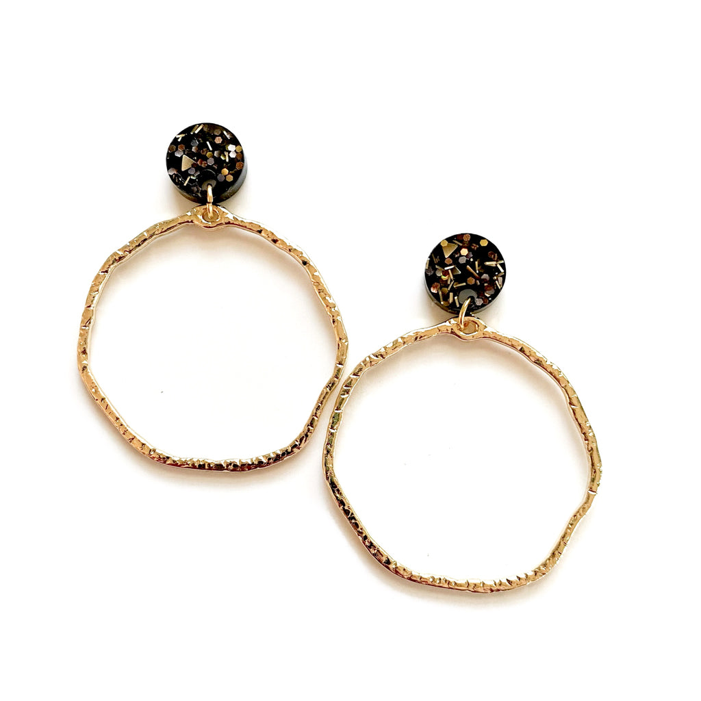 Filthy Rich Glitter & Gold - Stud Hoops