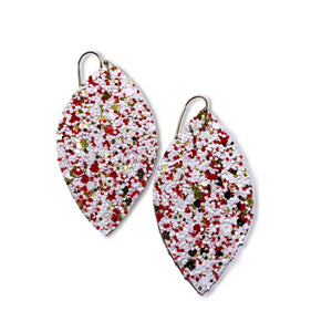 Candy Cane Glitter - Slim Leaf Drops