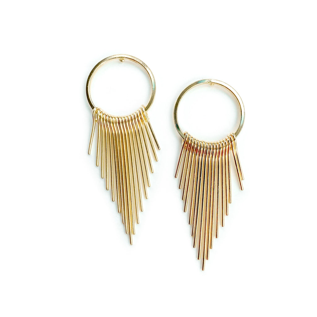 West Coast - Fringed Hoop Studs