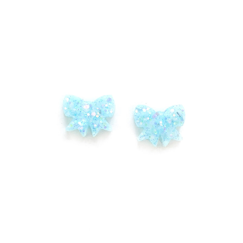 Don't Ice Me Out Glitter Bow - Shaped Studs