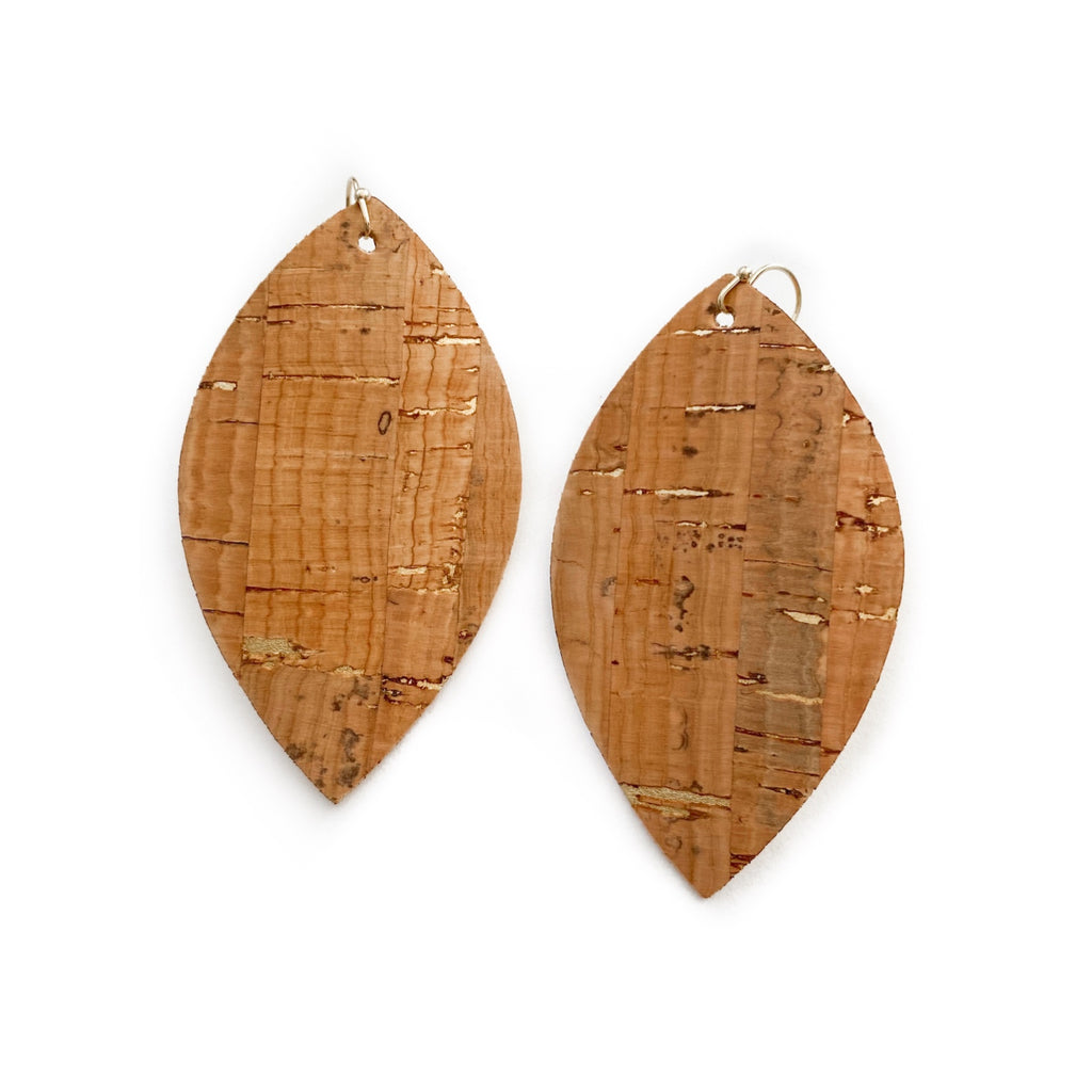 Gold Metallic Fleck Cork - Slim Leaf Drops
