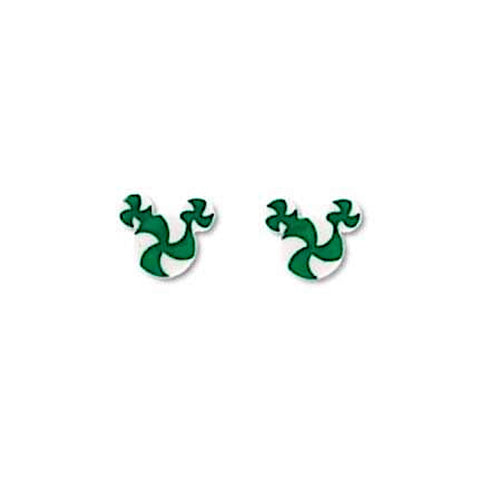 Peppermint Mouse Ears - 18mm Studs