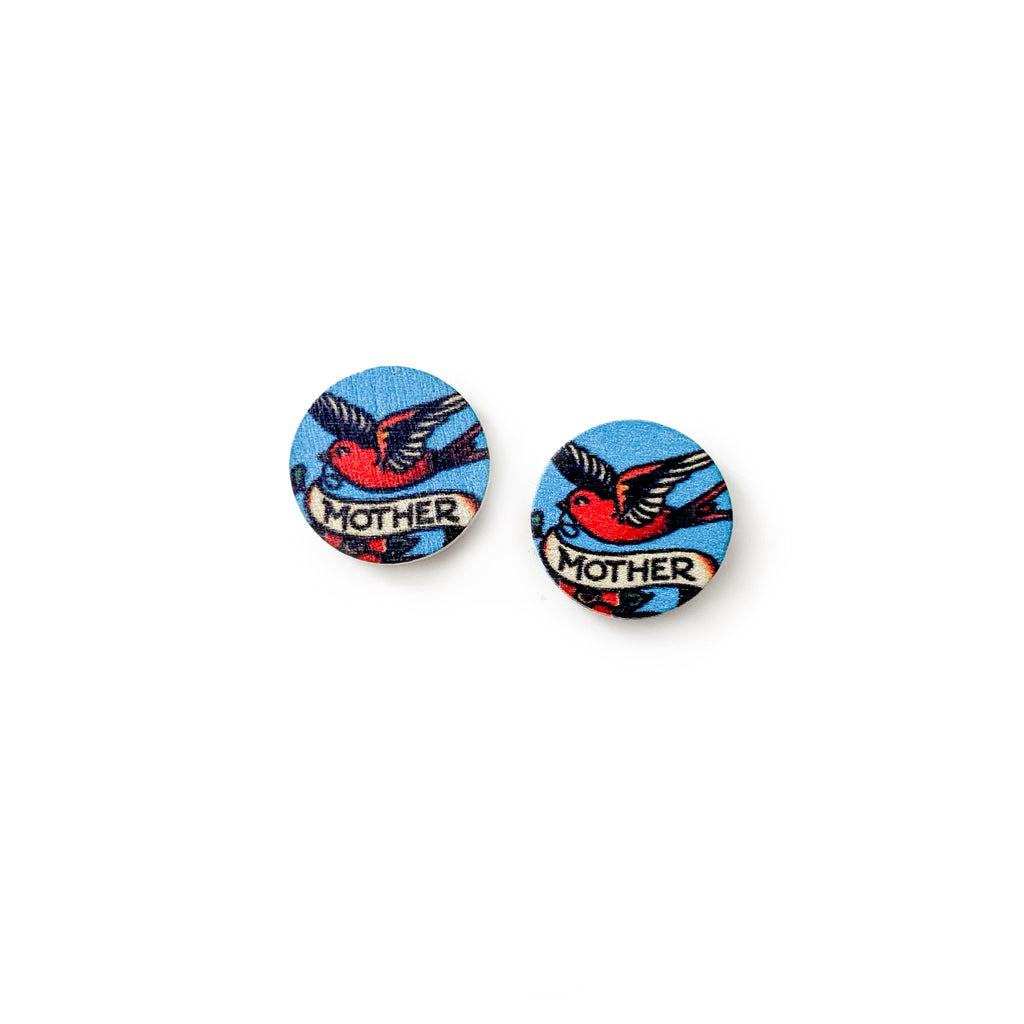 Mother Bird - Wood Studs