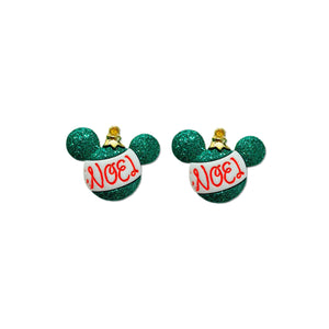 Noel Mouse Ears - 20mm Glitter Studs