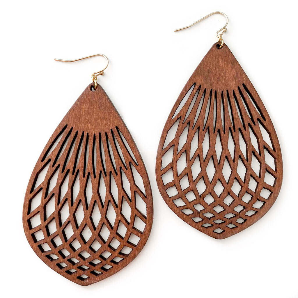 Woven - Timber Dangles