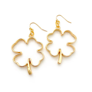 Golden Clover - Metallic Dangles