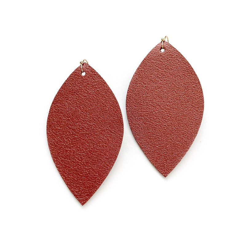 Desert Clay Textured - Slim Leaf Drops