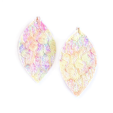 Shell Glitter & Lace - Slim Leaf Drops