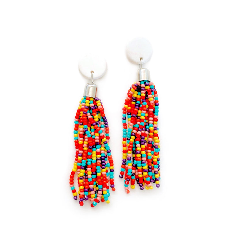 Rainbow - Beaded Tassel Dangles