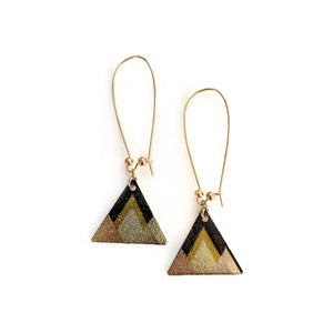 Abstract Gold Triangle - Dangles