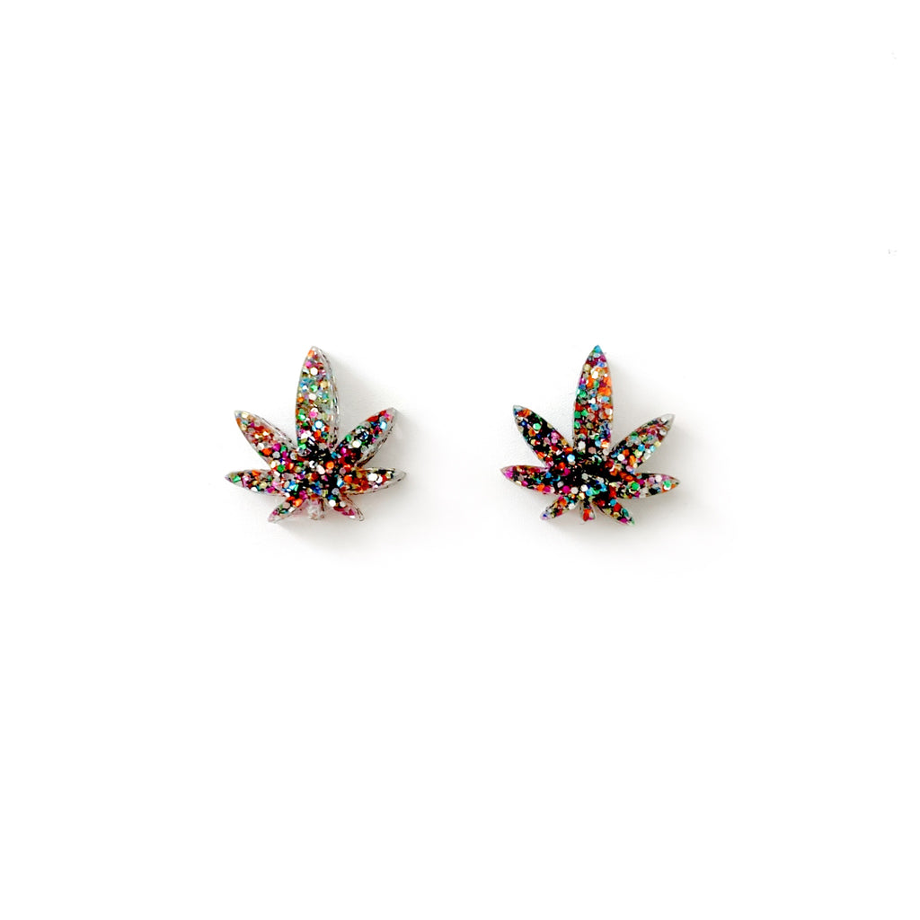 Multi Glitter Mary Jane - Shaped Studs