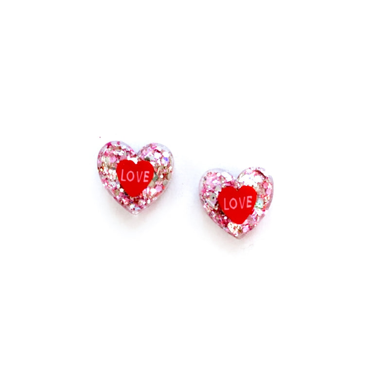Love You - Shaped Studs