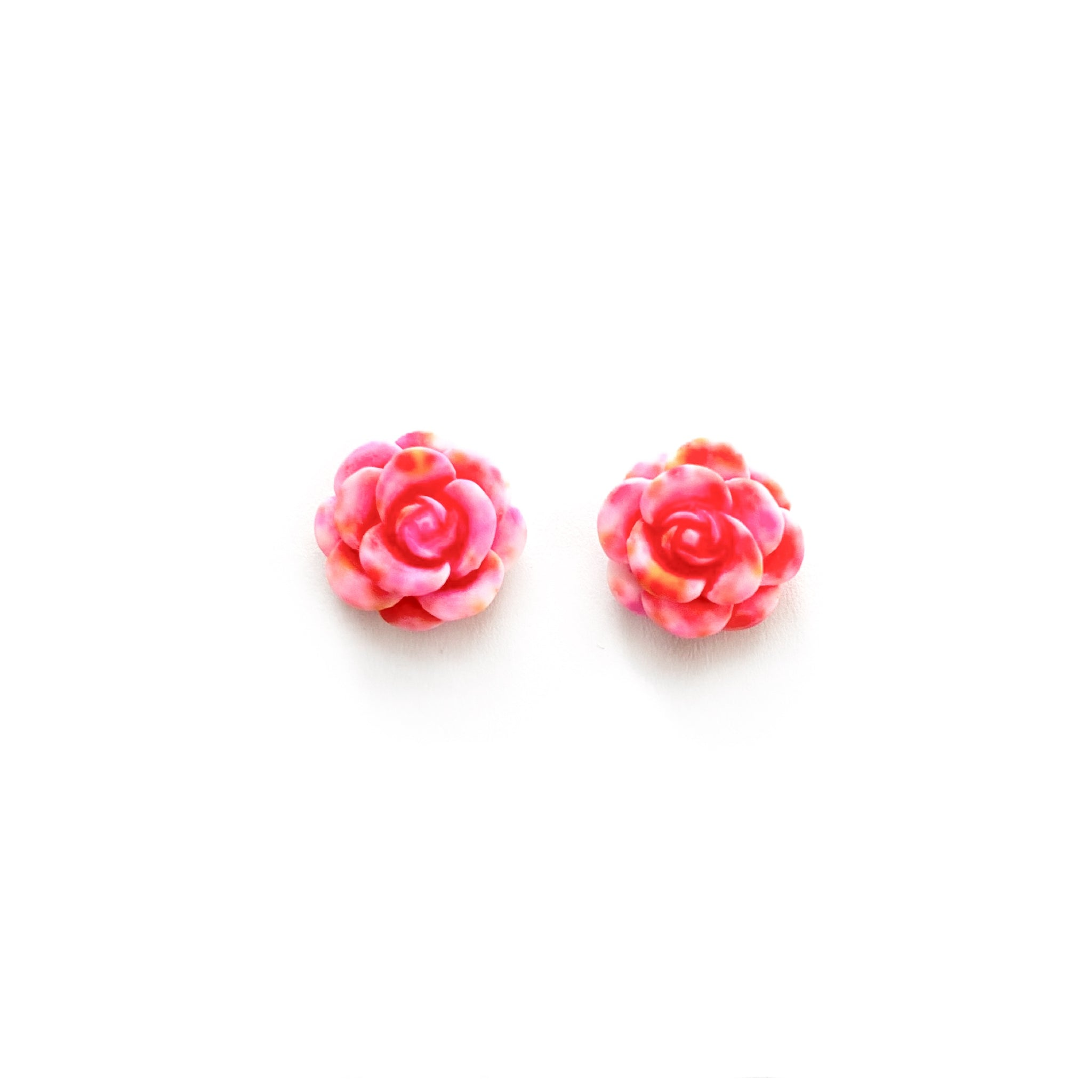 Pink Succulent Bloom 13mm - Shaped Studs