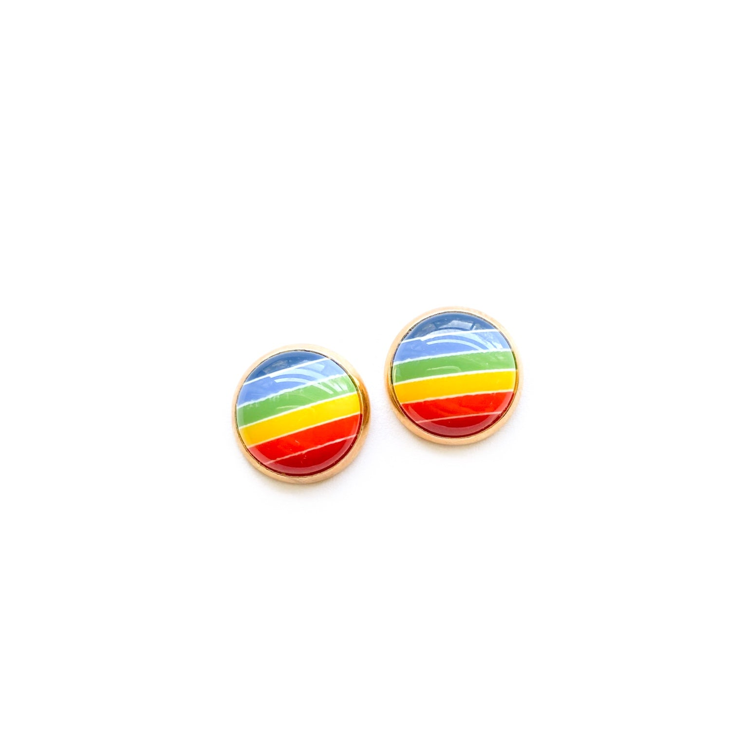 Rainbow in Gold - 12mm Dome Studs
