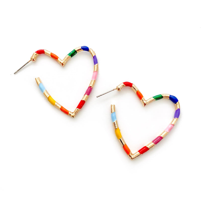 Rainbow Connection - Heart Hoops