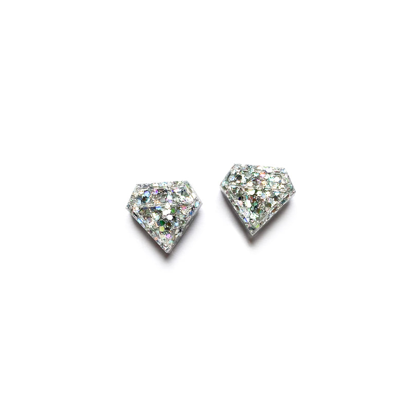 Diamonds Glitter Diamond - Shaped Studs