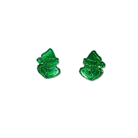 Green Mirror Grinch - 15mm Shaped Studs
