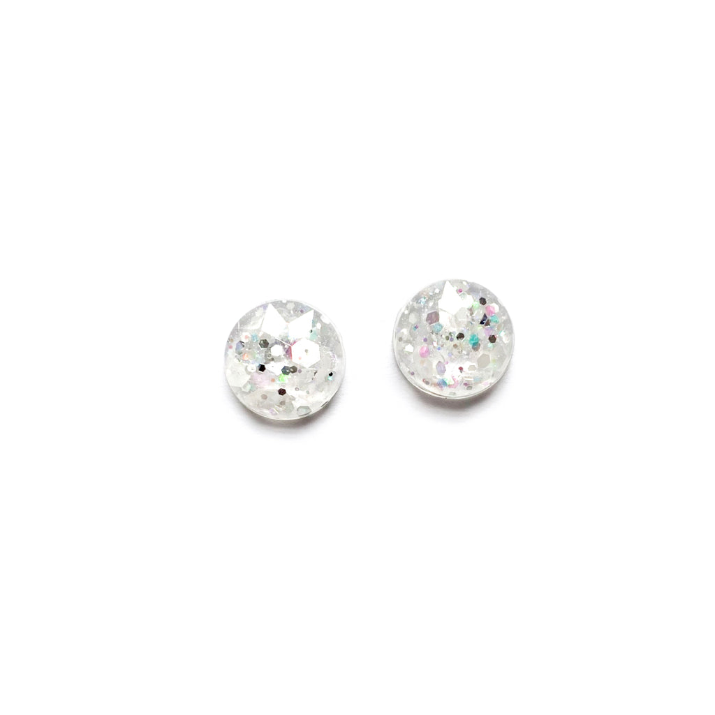 Clarity Glitter Dome - Shaped Studs